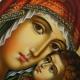 Icoon Maria en Jezus